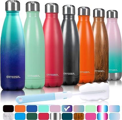Edelstahl Trinkflasche Isolierflasche Sportflasche Wasserflasche Thermoflasche