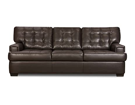Simmons Upholstery 9590 03 Soho Espresso Bonded Leather Sofa