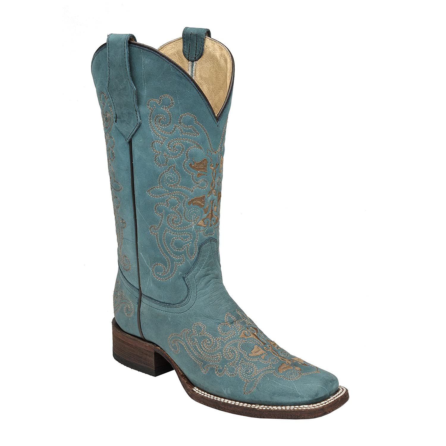 Corral Circle G Women's Square Toe Western Boots B0134EFIBO 10 B(M) US|Turquoise