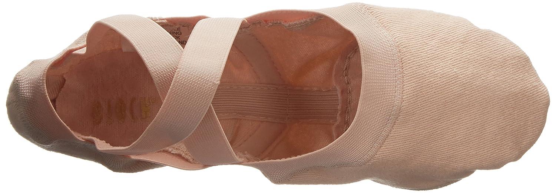 Bloch Dance Womens Synchrony Split Sole Stretch Canvas Ballet Slipper Shoe