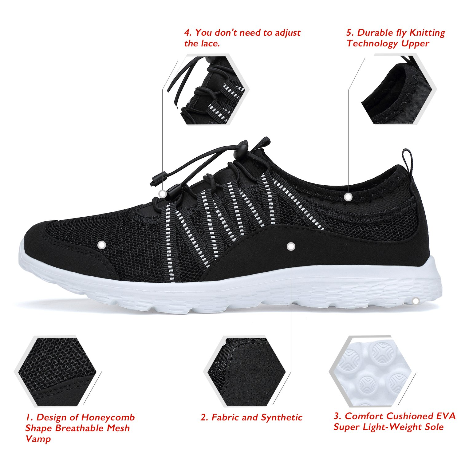 Men's Lightweight Walking Shoes Breathable Mesh Soft Sole for Casual Walk Outdoor Workout Travel Work by Belilent (Image #2)