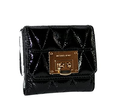 d372a45bda48 MICHAEL Michael Kors Women s Vivianne trifold coin ID case Small leather  Wallet (Black) at Amazon Women s Clothing store
