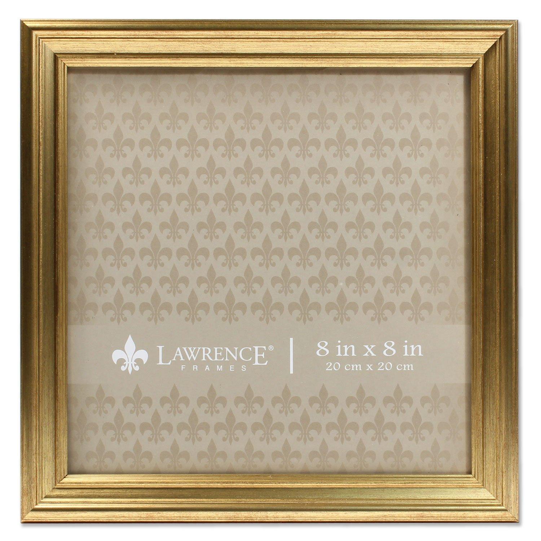 Lawrence Frames 8x8 Sutter Burnished Gold Picture Frame by Lawrence Frames