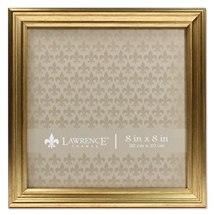 54509920d241 Amazon.com - Lawrence Frames 8x8 Sutter Burnished Gold Picture Frame -