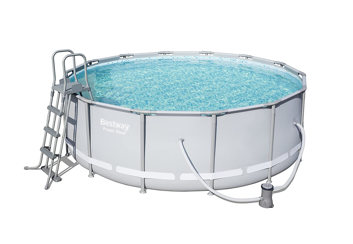 Bestway Power Steel Frame Pool Komplettset rund, mit ...