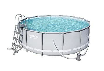 Bestway 56444 Piscina Power Steel con depuradora, M: Amazon.es: Deportes y aire libre