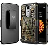 LG K10 Case, LG Premier LTE L62VL L61AL Case, NageBee [Heavy Duty] Armor Shock Proof Dual Layer [Swivel Belt Clip] Holster with [Kickstand] Combo Rugged Case - Camouflage