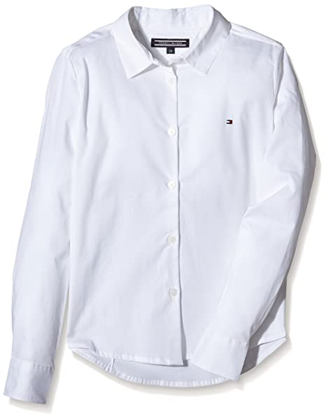 Tommy Hiliger, SARAH SHIRT L/S - Blusa para Niñas, Blanco (Classic
