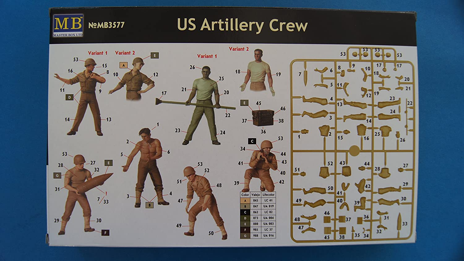 Masterbox 1:35 Scale US Artillery Crew Assembly Parts