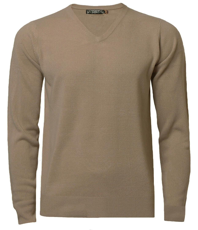 Kensington Mens Jumper Soft Cashmillon Fashion V-Neck Knitwear Pullover 1A9458