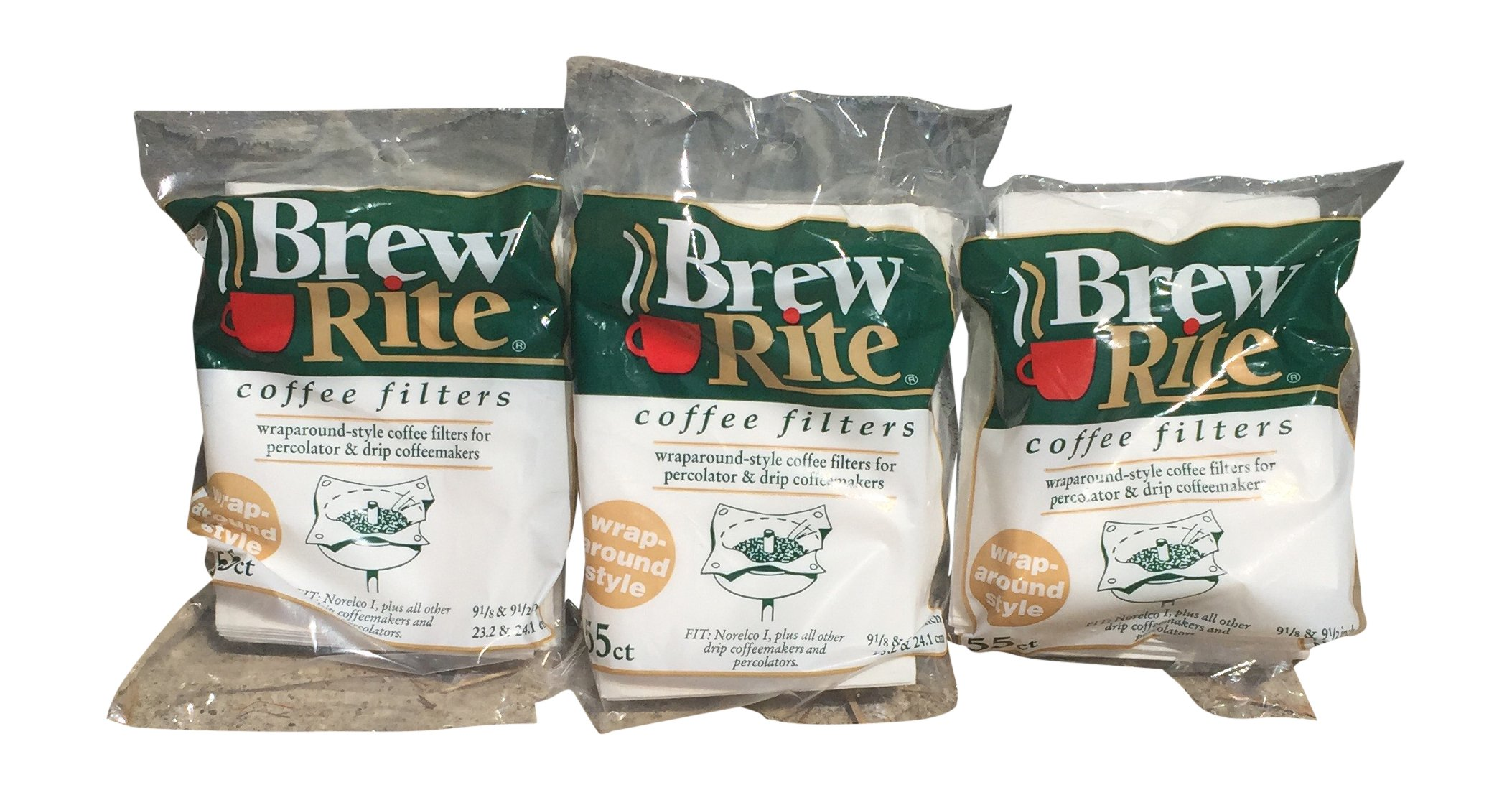 Brew Rite Rockline Wrap Around Percolator Coffee Filters (Pack of 3)
