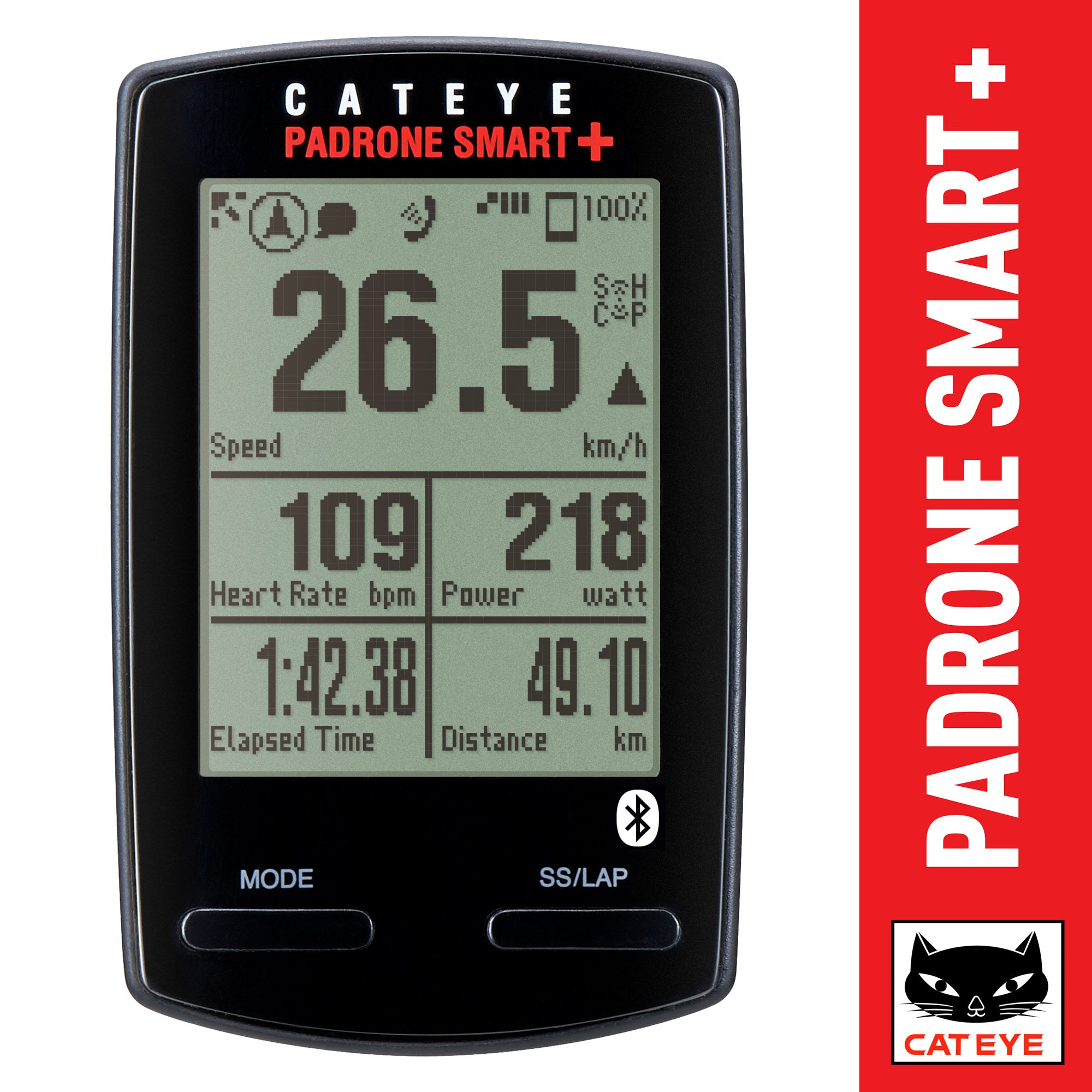CAT EYE - Padrone Smart Plus Wireless Bike Computer, Double