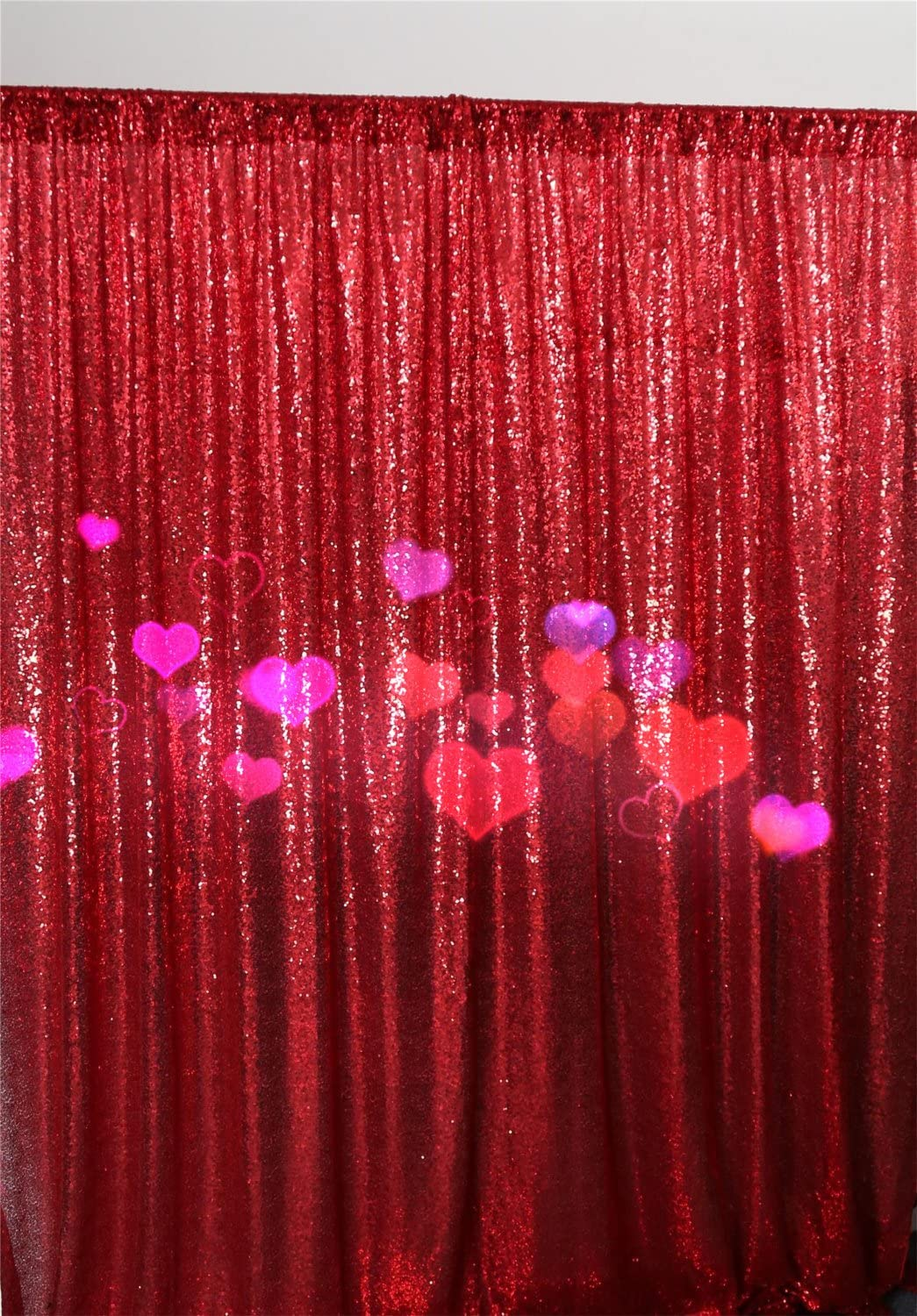 TRLYC 96 96 Gold Sequin Photo Booth Backdrop Sparkly Curtain for Wedding Party Decoration