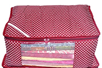 8056ebc2072 SAMRIDHI HANDLOOM HOUSE(Since-1996) Quilted Large Saree Cover Bag ...