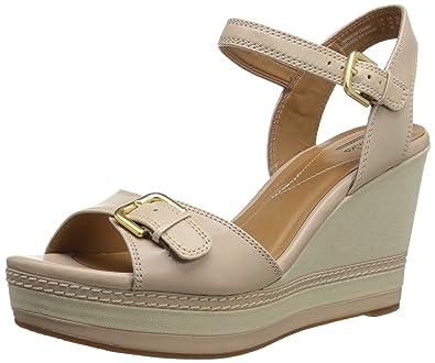 Clarks Women's Zia Castle Platform Sandal, Nude, ...
