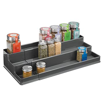 Amazon.de: mDesign Gewürzregal für Küchenschrank oder Arbeitsfläche ...