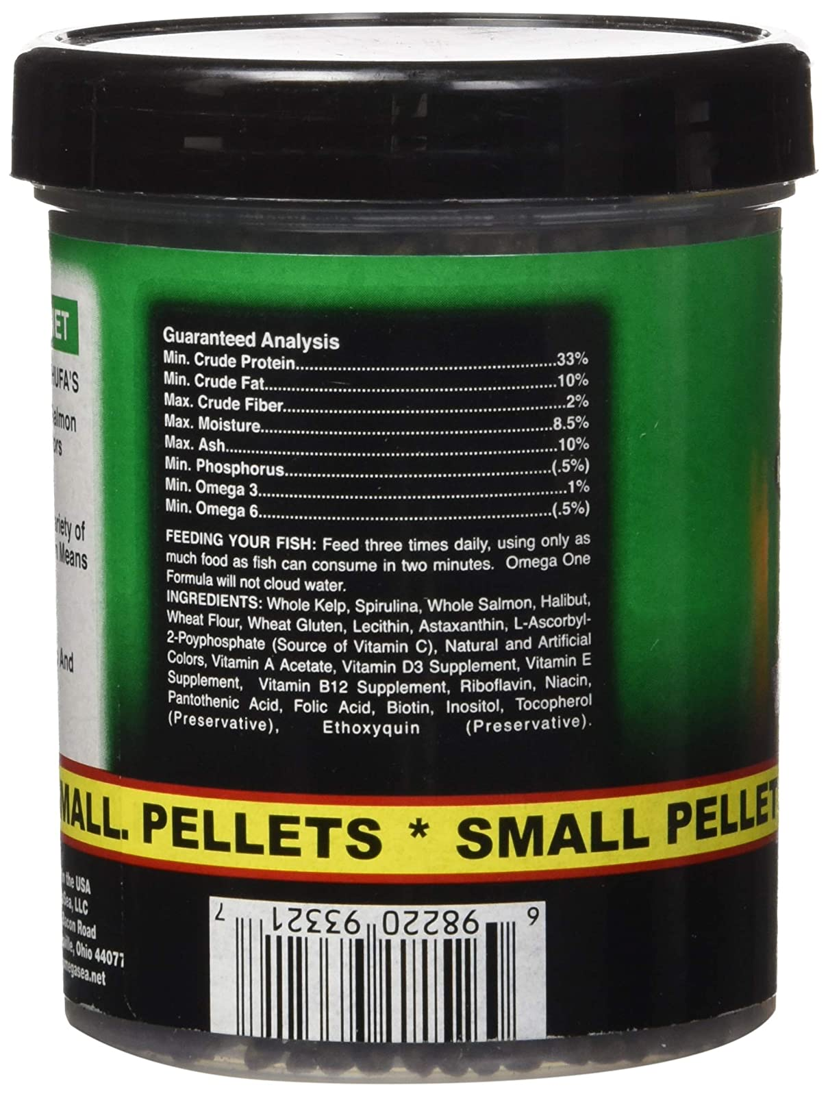 Omega One Super Veggie Pellets Small 3.5oz SHOMHNK004 - 2