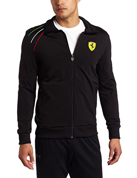 Buy Puma Apparel Men\u0027s Scuderia Ferrari Track Jacket, Black
