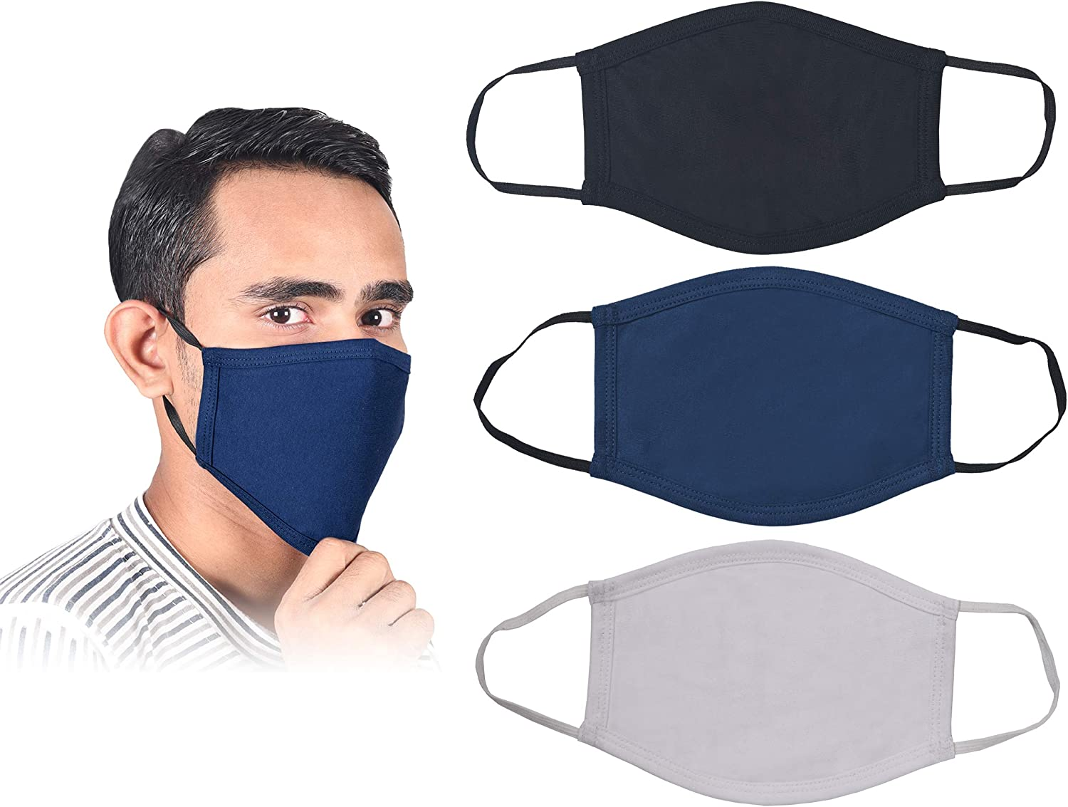 100 Pcs Safety Full Face Shield Reusable Washable Face Mask Protection Cover LOT