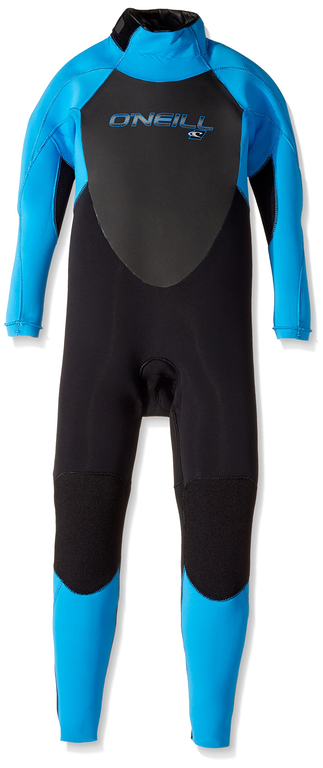 O'Neill Youth Epic 3/2mm Back Zip Full Wetsuit, Black/Bright Blue, 4