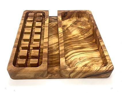 Organizador de mesa de 13x14x2cm hecho de madera de olivo hecho a ...