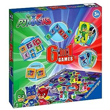 Ravensburger Games Box | 6 en 1 | PJ Masks Colección de Juegos Infantiles