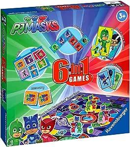 PJ Masks Games Box | 6 en 1 Ravensburger | Colección de Juegos Infantiles