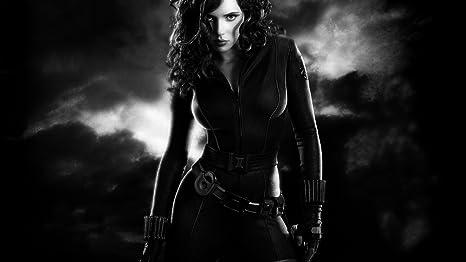 Posterhouzz Actress Black Widow Greyscale Natasha Romanoff