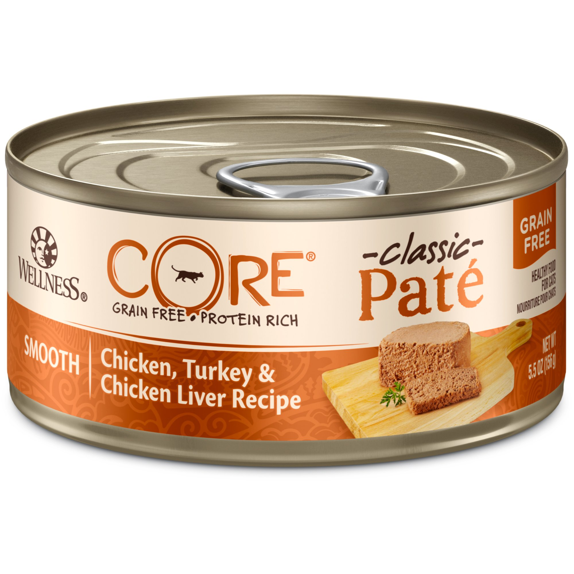 Wellness Core Natural Grain Free Wet Canned Cat Food, Chicken & Turkey, 5.5-Ounce Can (Pack Of 24) by WELLNESS CORE