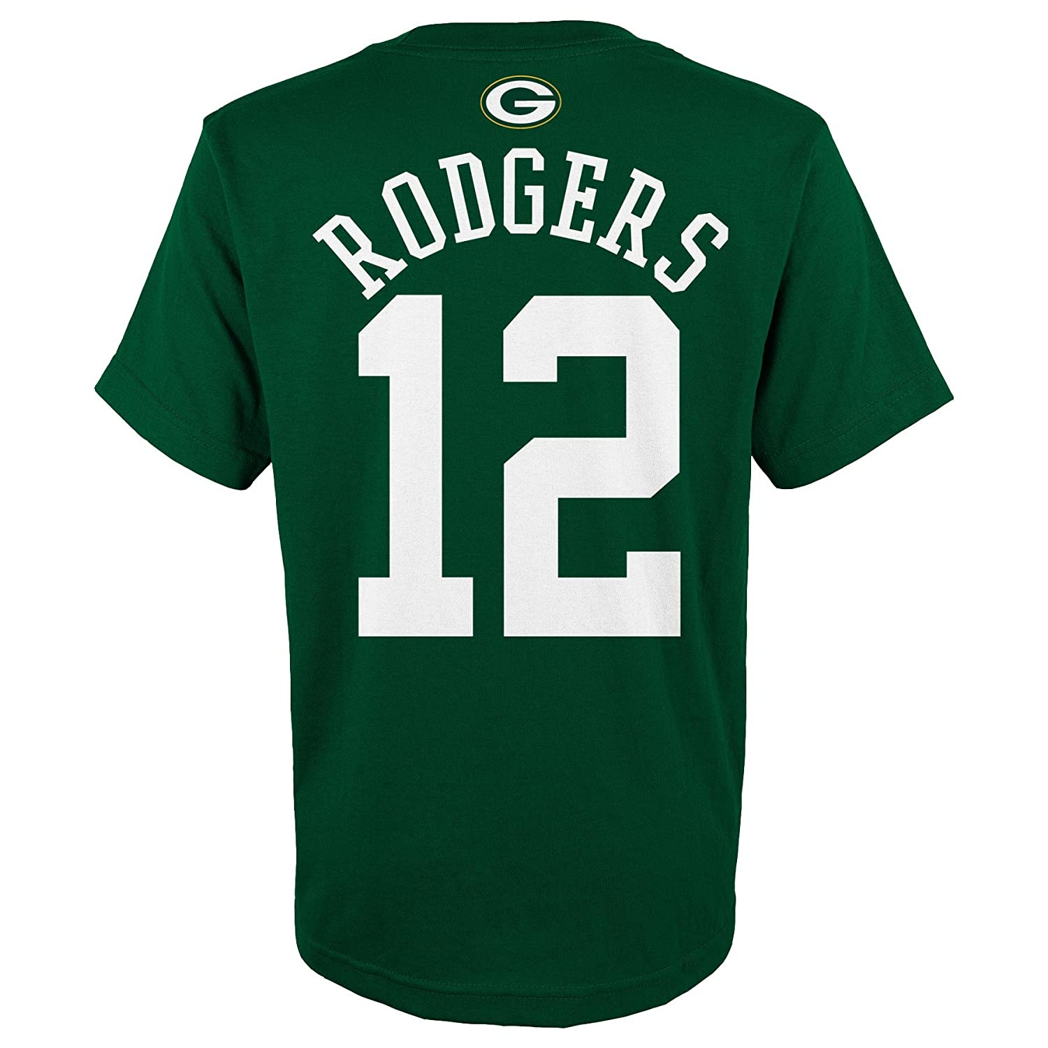 Amazon.com   NFL Green Bay Packers Aaron Rodgers   12 Youth Boys 8-20 Name    Number Short Sleeve Tee aa9ce63bc