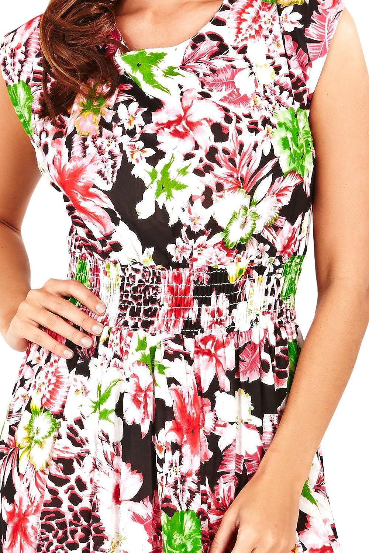 Maxi Vestido Floral Pistachio de Dama con Cintura El/ástica