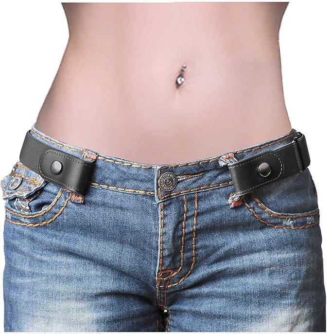 Amazon.com: Cinturón sin hebilla, cinturón ajustable sin ...