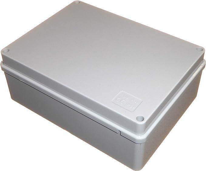 Caja de conexiones 190 mm x 140 mm x 70 mm impermeable IP56 PVC plástico Adaptable Enclosure Outdoor Lighting Cable Electrics Connection: Amazon.es: Bricolaje y herramientas