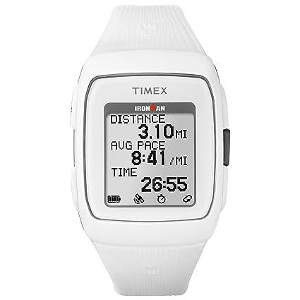 Timex Ironman GPS Correa de Silicona Reloj - TW5M11900, Blanco