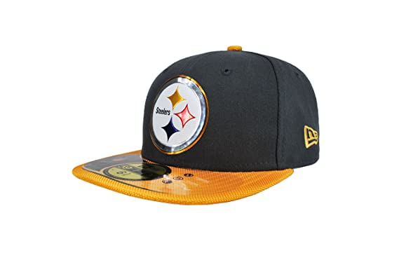 New Era Kid s NFL Hat Pittsburgh Steelers Gold Collection Football Charcoal  with Gold CAP (6 59c310d6678