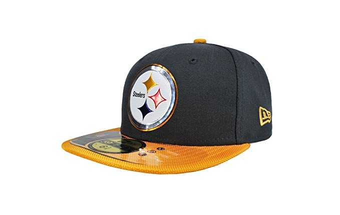 11eb76f15 New Era Kid's NFL Hat Pittsburgh Steelers Gold Collection Football Charcoal  with Gold CAP (6