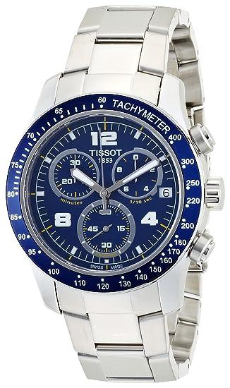 Tissot V8 T039417 - Reloj de caballero de cuarzo, correa de acero inoxidable color plata: Tissot: Amazon.es: Relojes