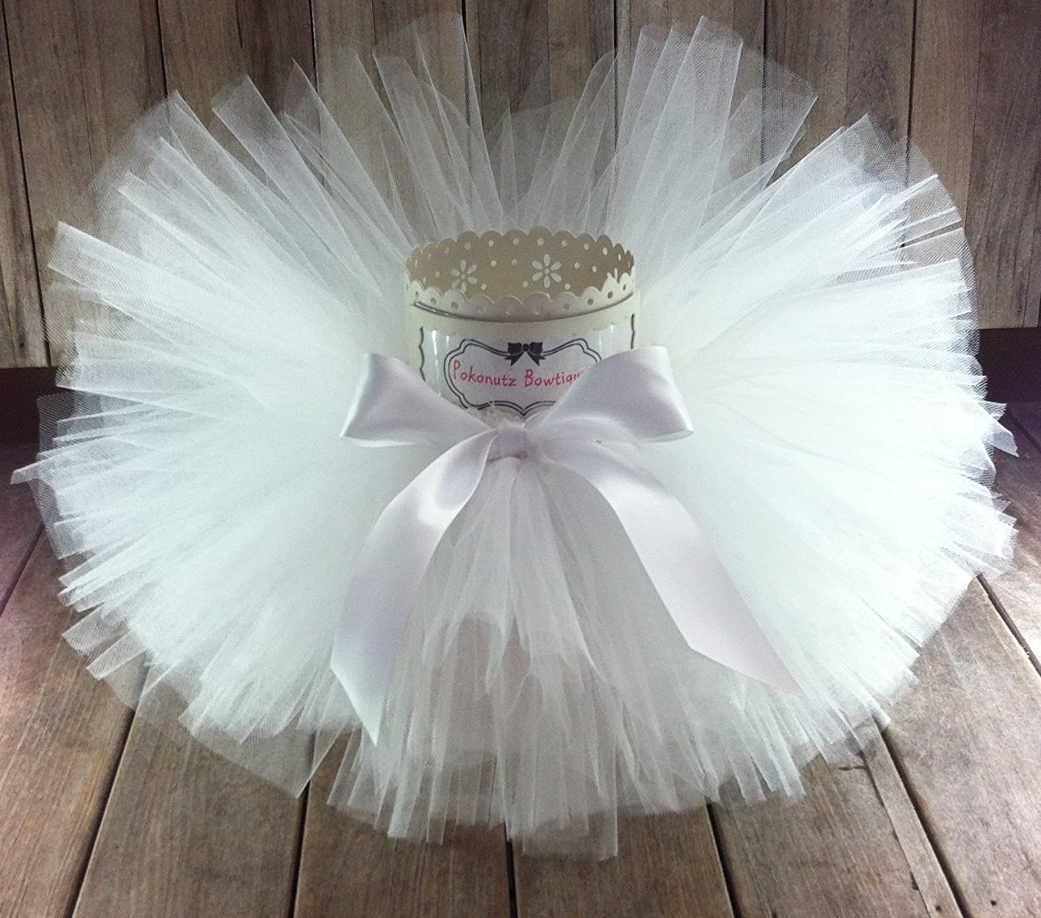 White Tutu, Baby Tutu, Toddler Tutu, Girls Tutu, Infant Tutu, Newborn Tutu, Baptism Tutu