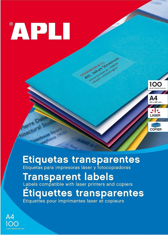 Etiquetas 100 hojas Apli 3056