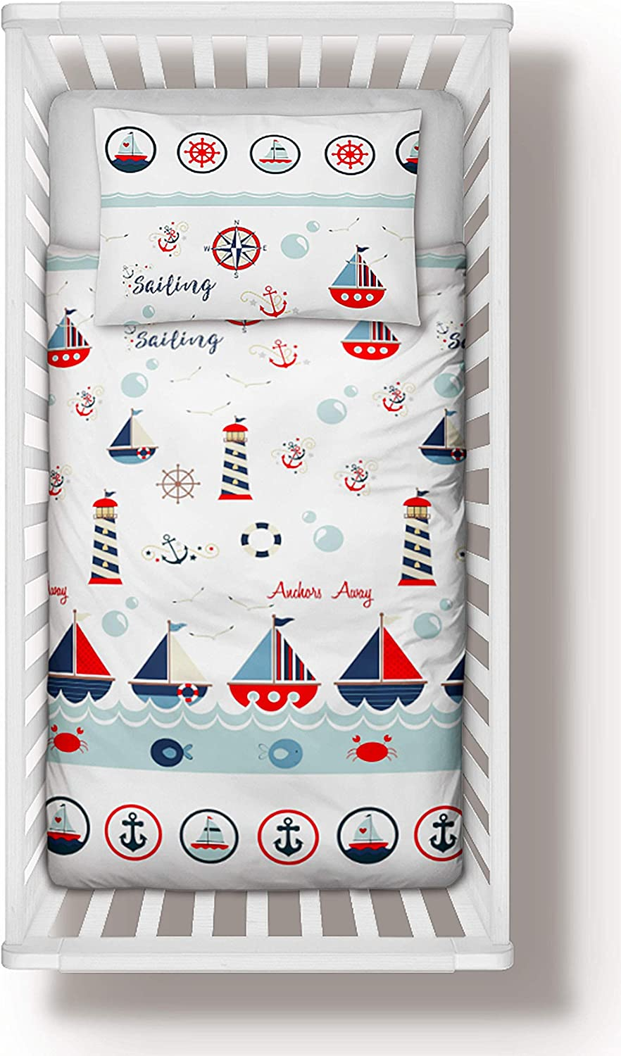 Sailing Boats Crib Bedding Set