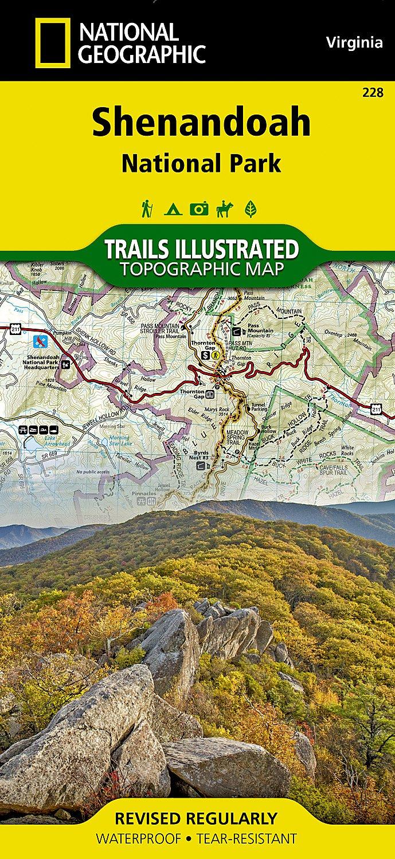 Shenandoah National Park: National Geographic Trails Illustrated USA Südosten (National Geographic Trails Illustrated Map, Band 228)