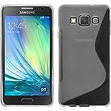 Funda de silicona para Samsung Galaxy A3 (A300) - S-Style transparente - Cover PhoneNatic Cubierta + protector de pantalla