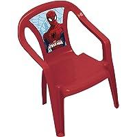 Spiderman 707976 Chaise pour Enfants, Plastique, Rouge/Bleu, 50x36,5x30 cm
