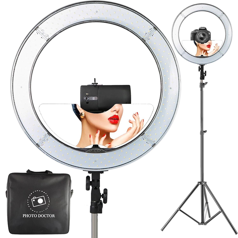"Ring Light Stand Ebay: 18"" LED Video Ring Light With Mirror, 6ft Tripod, DSLR"