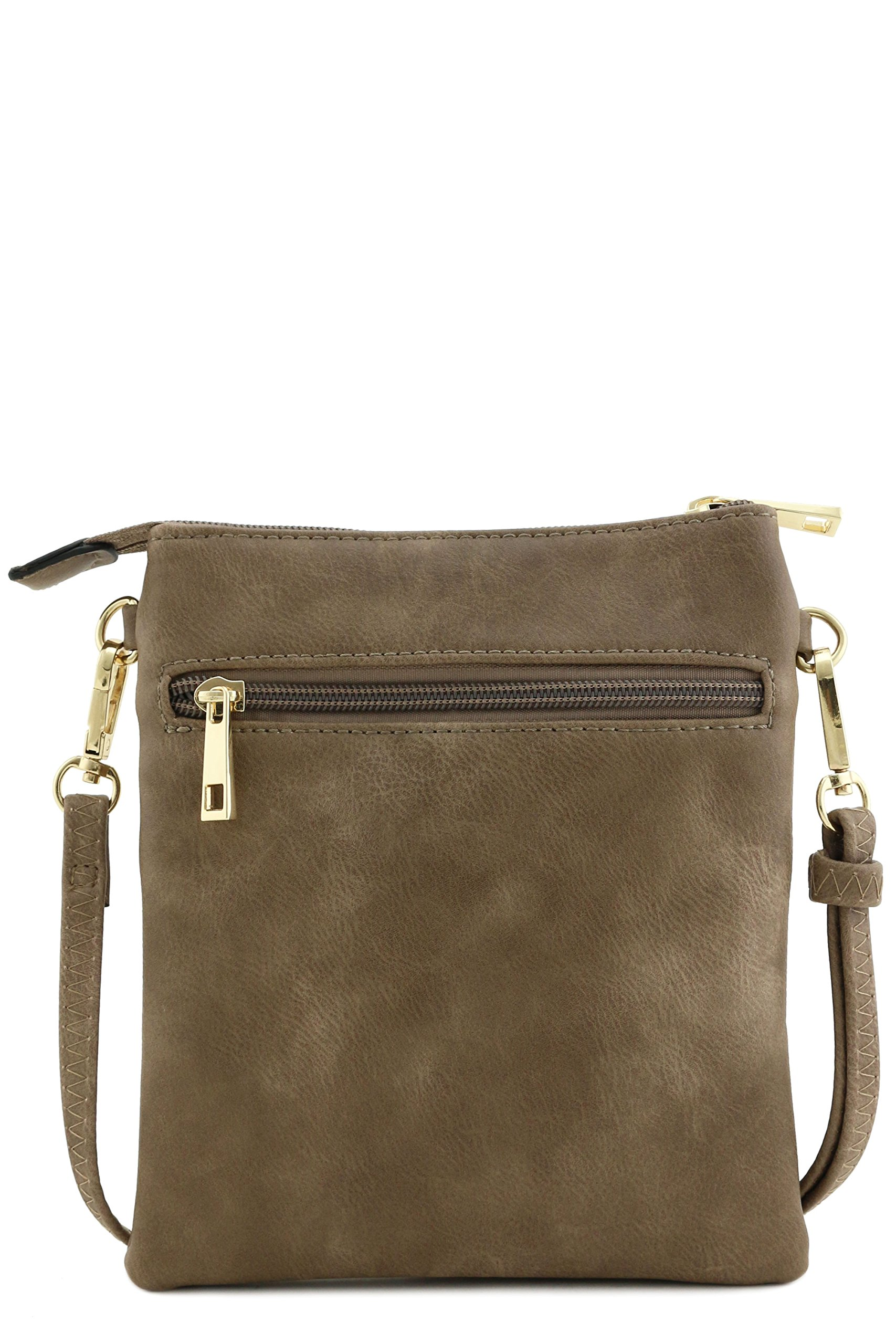 Functional Multi Pocket Crossbody Bag (Taupe) by Isabelle (Image #6)