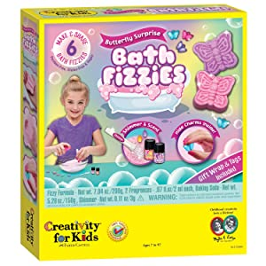 Creativity For Kids Butterfly Surprise Bath Fizzies - Makes 6 DIY Bath Bombs