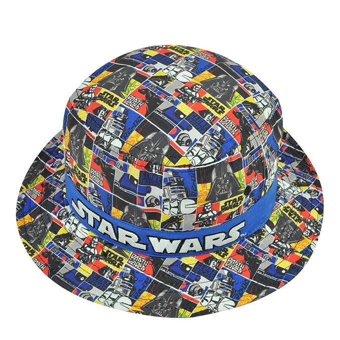 4de6485379b Amazon.com  Star Wars Boys Youth Kids Sublimated Strip Bucket Hat ...