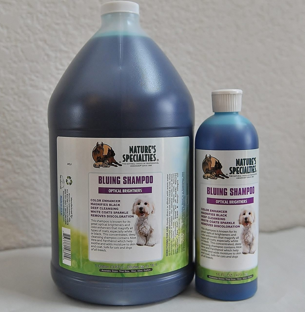Nature's Specialties Bluing Pet Shampoo with Optical Brighteners, 1 GALLON by Nature's Specialties