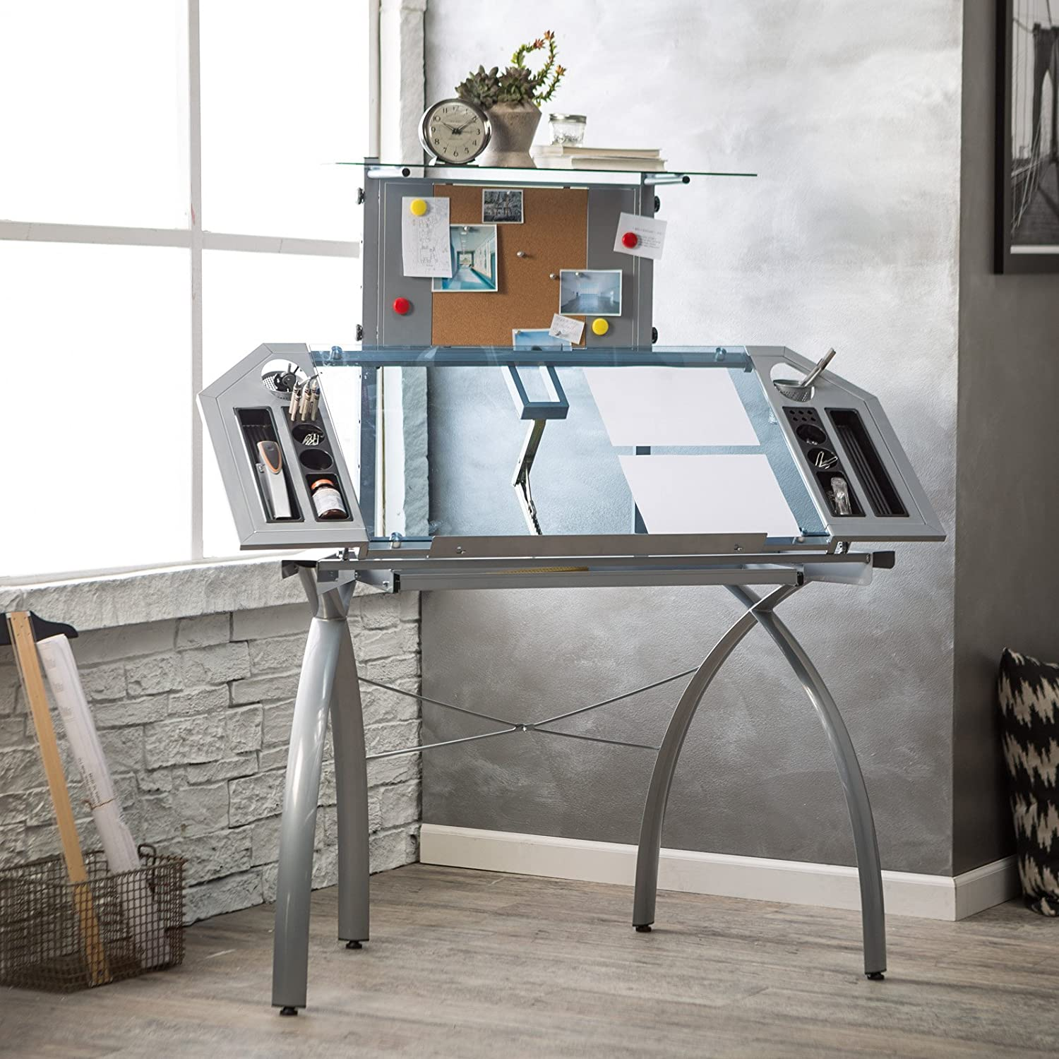 Studio designs futura craft station with glass top - Amazon Com Studio Designs Glass Top Futura Tower Drafting Station Home Kitchen
