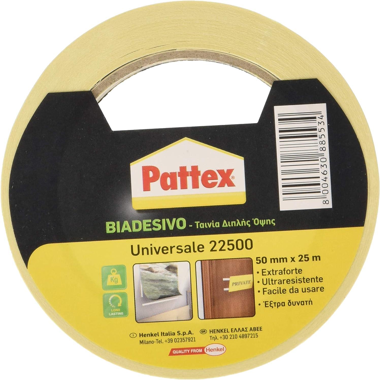 Pattex 715151 22500 Double face universel 50 mm x 25 m